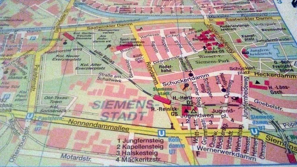 Verlauf Siemensbahn