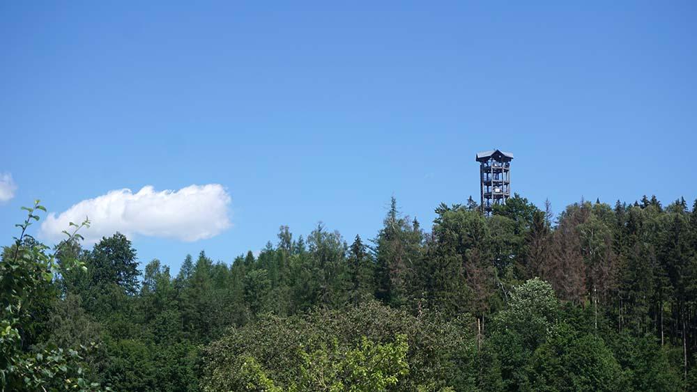 Weifbergturm in der Entfernung